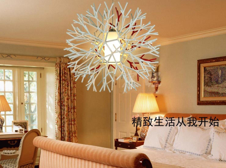 Creative Coral Tree Branches IKEA Restaurant Lamp Chandelier Modern Minimalist Living Room Lights Lighting Fixtures Study