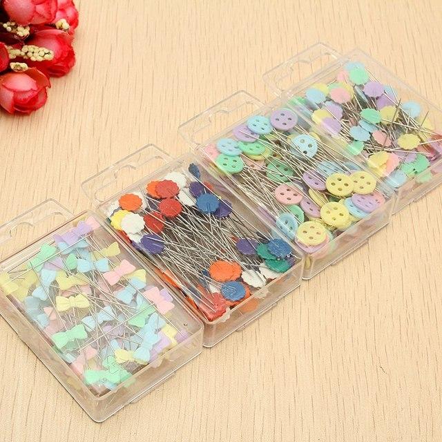 Newest 100Pcs/box DIY Sewing Pins Patchwork Pins Flower Head Pins ... : flower head pins quilting - Adamdwight.com
