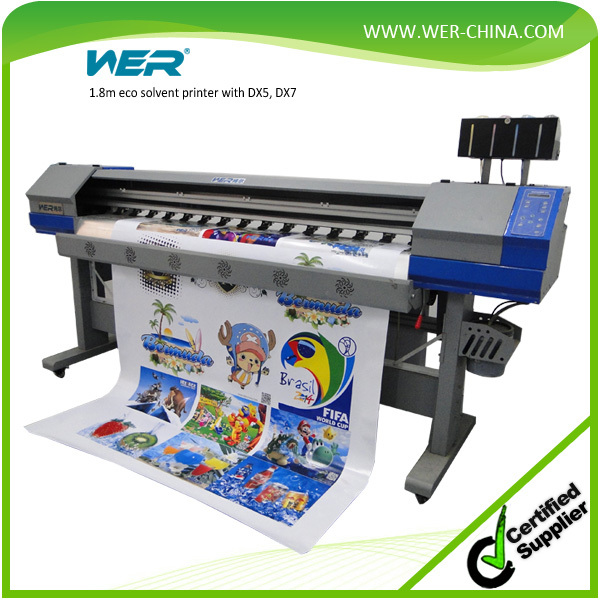 Sticker printing machine 1 8m 2 pcs dx5 1440dpi for indoor and outdoor printing