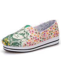 2017 Women Casual Shoes Platform Shoes Fashion Spring Autumn Women Shoes flats Breathable trainners ST58 MINIKA