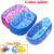 4 opciones de colores impresos lindos Bañera Bañera de Dibujos Animados 0-5 Edad Niños Piscina Inflable Plegable Bebé Tinas