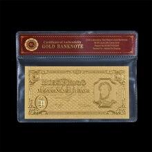 Réplique de Pengo de la hongrie année 1946, billet de banque en feuille d'or avec manche en plastique