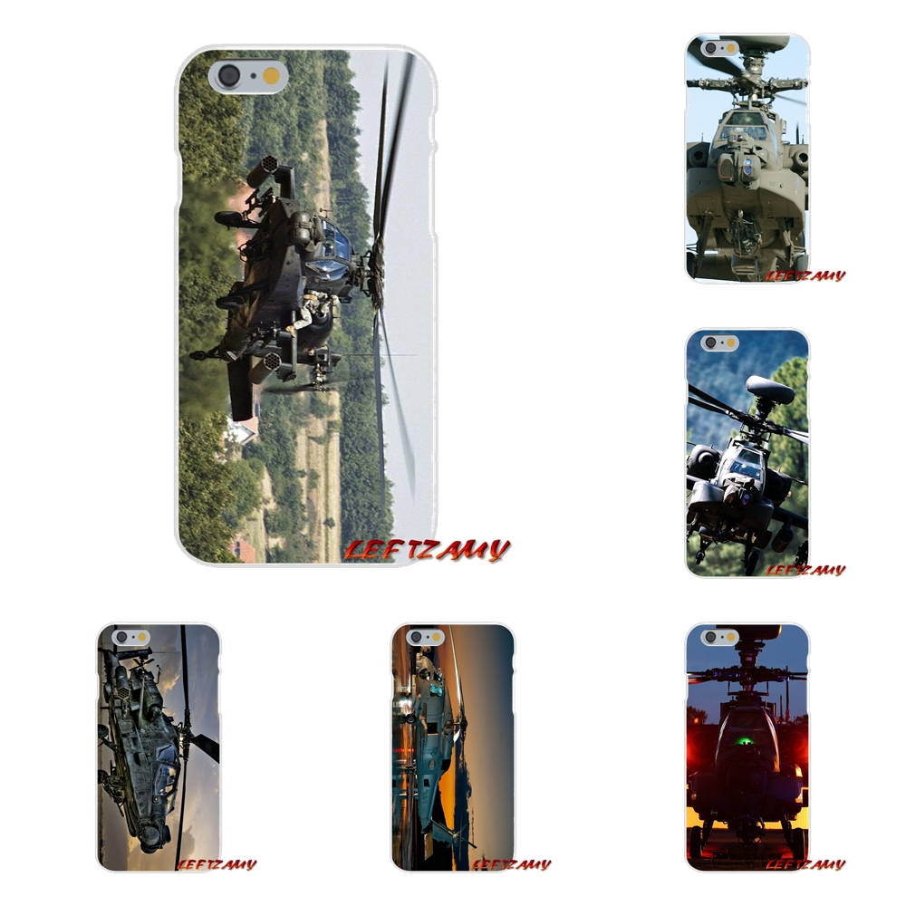 Apache Helicopters sunset fighter Slim Silicone phone Case For Samsung Galaxy S3 S4 S5 MINI S6 S7 edge S8 S9 Plus Note 2 3 4 5 8