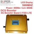 ГРУППА 3 FDD LTE 4 Г усилитель 980 мощности 30 дбм усиление 65dbi ЖК-дисплей DCS 1800 мГц мобильного FDD повторитель DCS booster ретранслятор