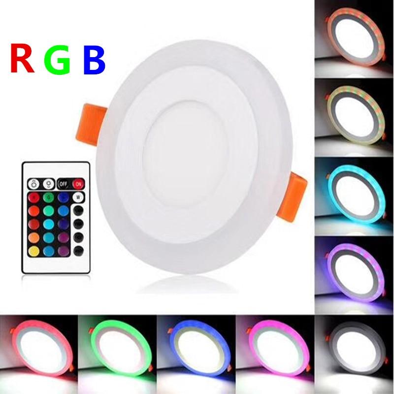 Luzes do Painel de Led acrílico 6 w/9 w/16 w/24 Características : White+ Rgb