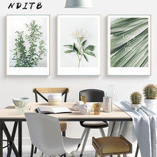 Leaf Plant Scandinavian Poster Nordic Style Canvas Wall Art Print Minimalist Painting Decorative Picture Tropical Decoration