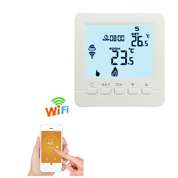 Programmable Thermostat Heating WiFi 3A 110V- 230V App Temperature Control Gas Boiler Heating wifi Thermostat with 6 languages hessway app by smartphone 2p programmable fan valve room thermostat wifi fcu for heating cooling