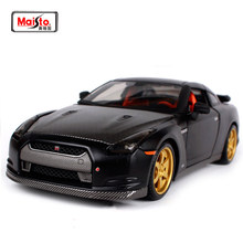 New 1:24 Scale Nissan GTR 2009 GT-R R35 Carbon fiber Charger Metal Diecast Model Racing Sport Auto Car For Boys Toys Gift(China)
