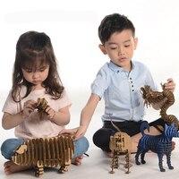 2017 new 3D Puzzle Animal Educational Papercraft Cardboard Art Craft Paper Model DIY Kids Toys