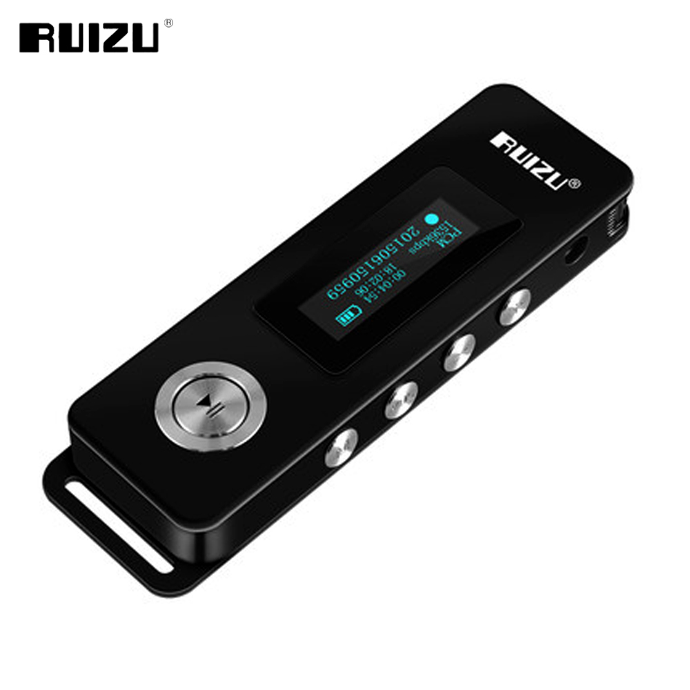 2017 Original RUIZU K10 HD Digital Voice Recorder Portable Small Recorder for Lectures 8GB Noise Reduction Mini MP3 Player