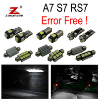 16pc x canbus Error Free for Audi A7 S7 RS7 C7 Quattro (2011 2017) LED Lamp Interior Reading Map Light Kit Package