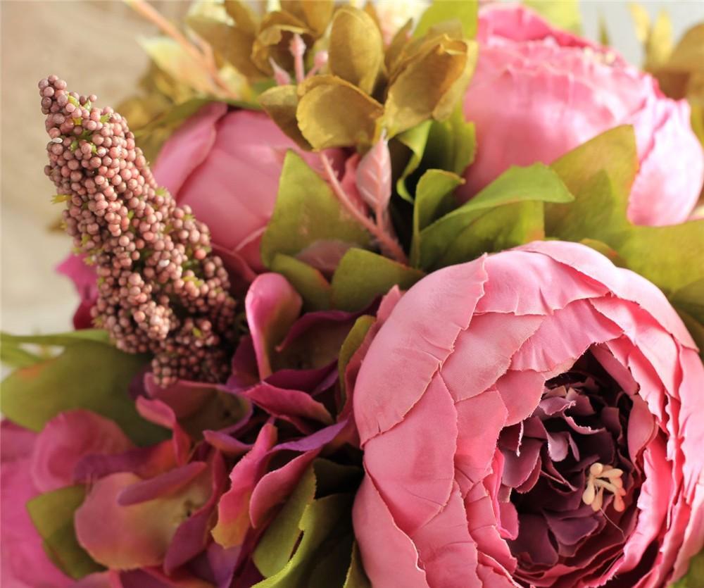 Artificial flower Wedding Bouquet Bouquet Bridal Bouquet Bridesmaid Wedding Decoration Event Party Supplies buques de noivas (4)