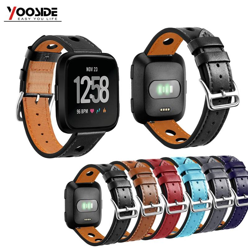 22.5mm PC Leather Breathe Quick Release Watch Strap Band for Fitbit Versa Smart Watch fitbit watch