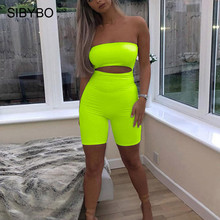 Sibybo Strapless Hollow Out Sexy Jumpsuit Playsuit Women Off Shoulder Skinny Women Rompers Backless Casual Short