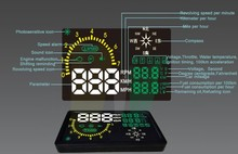 6-inch LED HUD head-up display manufacturers with compass universal for all cars with OBDII