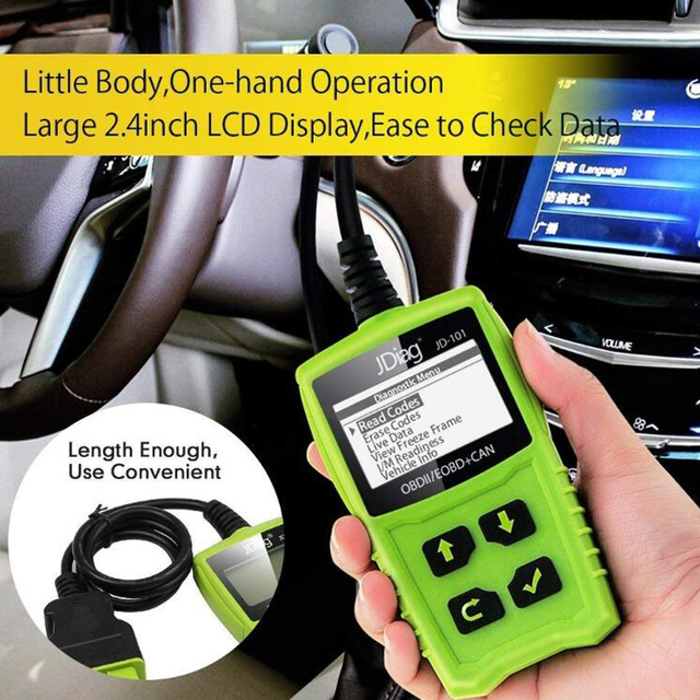 JDiag Code Readers JD101 Car Scanner for Engine Auto OBD Diagnostic Tool for Battery Test Repair Device with Multi-Functions