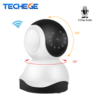 Techege Mini 1080P Wireless Wifi Night Vision Night Vision Sucurity 720P IP Camera 355 Rotation PTZ