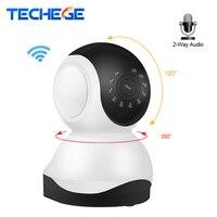 Techege Mini 1080 P Sans Fil Wifi Nuit Vision Nuit Vision Sucurity 720 P IP Caméra 355 rotation PTZ Intercom Surveillance caméra