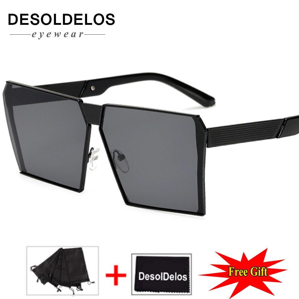 DesolDelos Oversized men square eyeglasses frame women rimless 2019 vintage octagonal glasses frames metal clear lens
