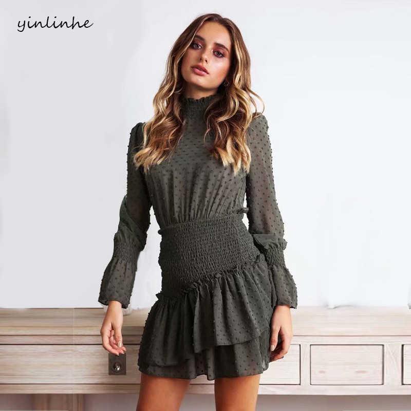 e3a9742353e11 Detail Feedback Questions about yinlinhe Grey Floral Chiffon Dress ...