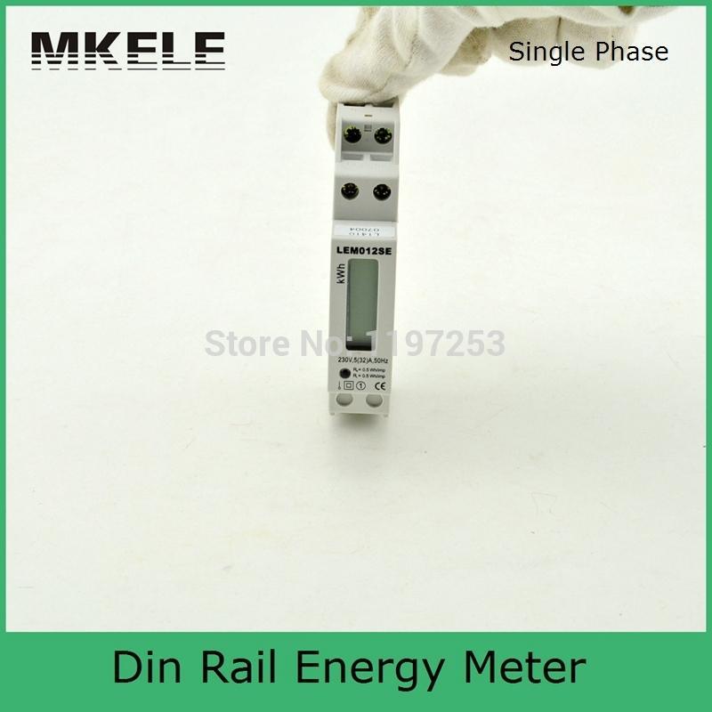 Nz Single Phase Smart Meter : Aliexpress buy din rail mk lem se smart energy