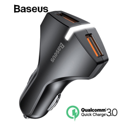 Baseus Quick Charge QC 3.0 Car Charger For iPhone Samsung iPad Tablet Fast Mobile Phone Charger Dual USB Car Phone Charger Turbo