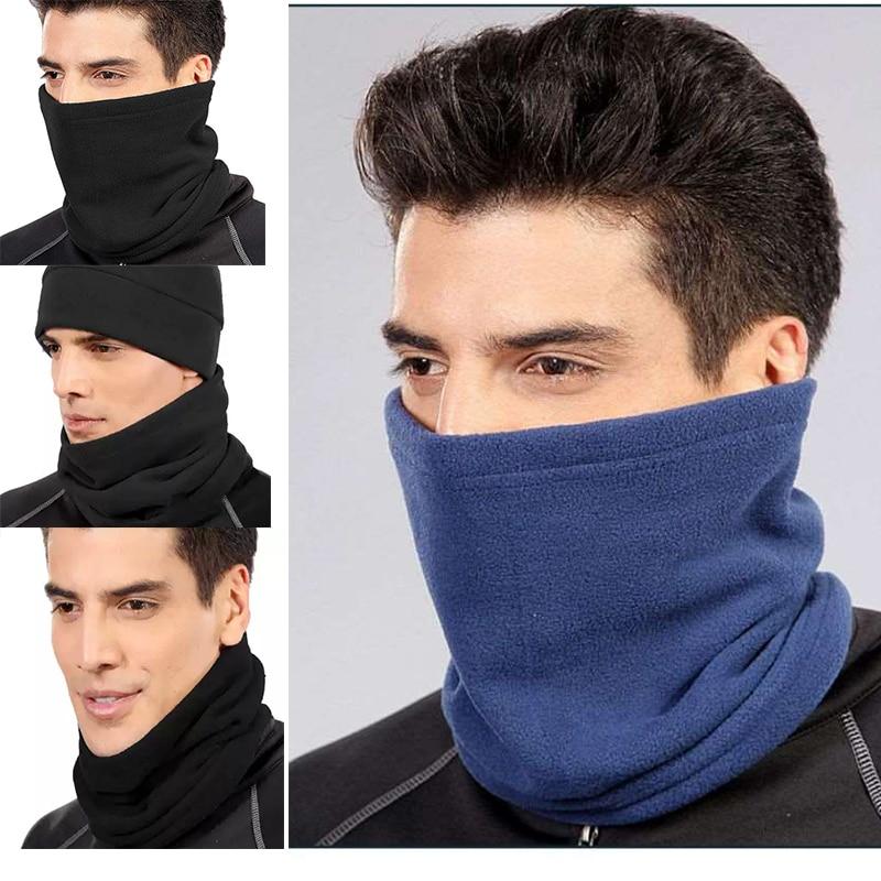 New Fashion Unisex Women Men Winter Casual Fleece Wool Neck Warmer Thermal Fleece Scarfs Snood Neck Warmer Face Mask Beanie Hats Apparel Accessories