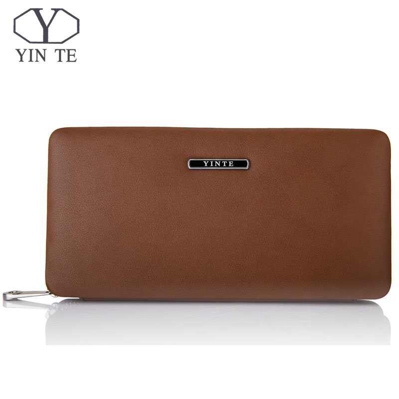 YINTE Phone Wallet Leather Vintage Solid Clutch Bag Brand Mens Wallet One Zipper Genuine Leather Bag T1605YINTE Phone Wallet Leather Vintage Solid Clutch Bag Brand Mens Wallet One Zipper Genuine Leather Bag T1605