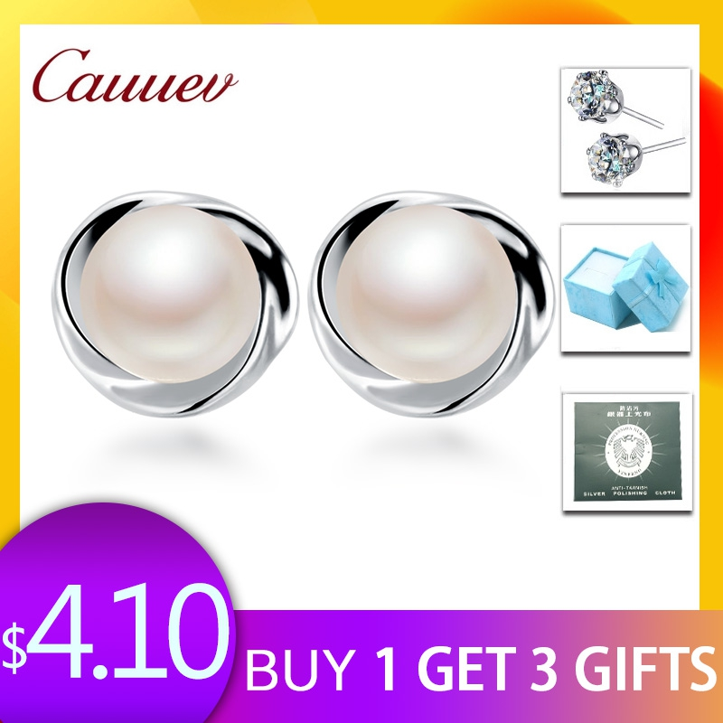 925 Sterling Silver Stud Earring For WomenTop AAAA freshpearl Earrings 100% Genuine Pearl Jewelry Natural Pearl Gift Pendientes 925 Sterling Silver Stud Earring For WomenTop AAAA freshpearl Earrings 100% Genuine Pearl Jewelry Natural Pearl Gift Pendientes