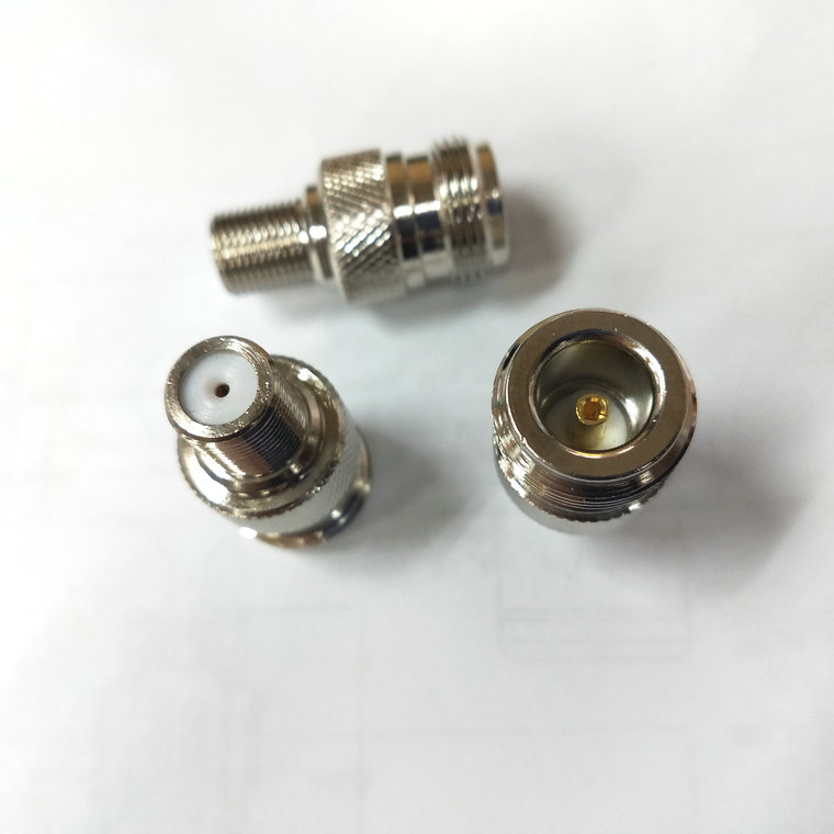 500pcs brass F Type Female to N Type Female Antenna RF Adapter connector