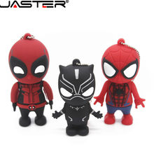 JASTER 4 Deadpool pen driver flash usb 2.0 pendrive GB GB GB 64 32 16 GB Spiderman Memory Stick Criativo dos desenhos animados brinquedo de Presente por atacado(China)