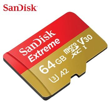 Original SanDisk Extreme PRO/Extreme Memory Card 128GB 64GB 32GB Read Speed Up to 100MB/s microSDHC/SDXC UHS-I  U3 V30 4K UHD