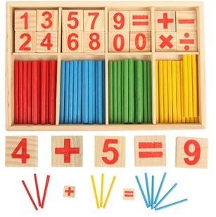 Hot Sale Baby Toy Wooden Blocks Montessori Educational Toys Smart Stick Mathematical Intelligence Stick Building Blocks gift