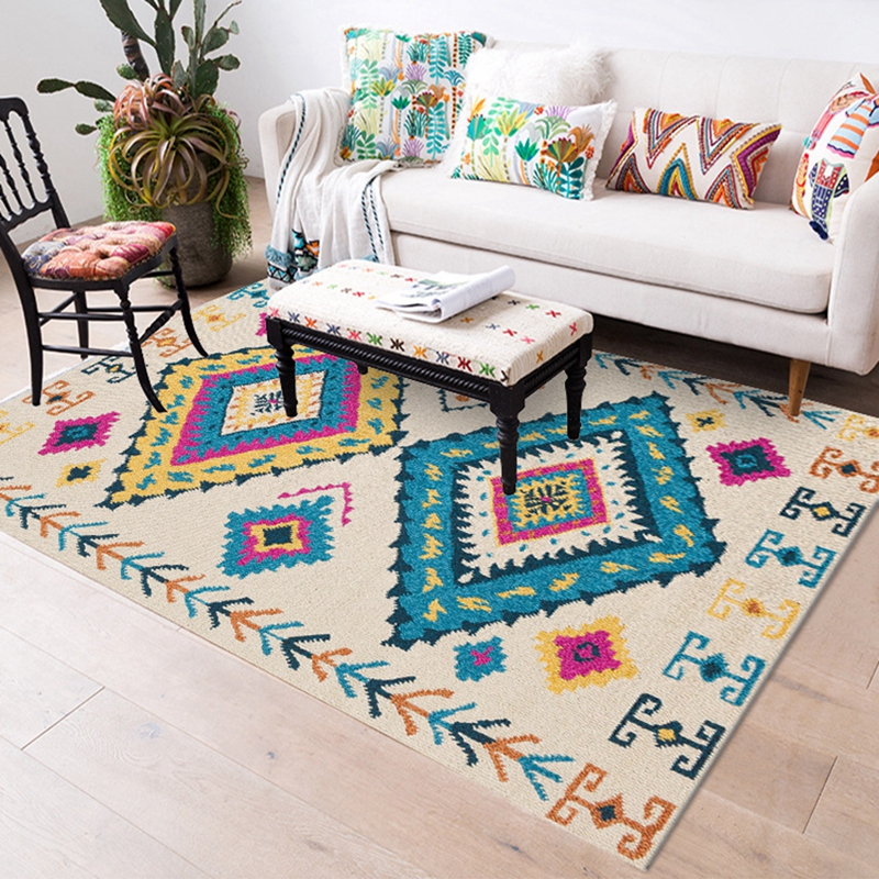 Turkey Style Area Rug For Living Room Luxurious Bedroom Bedside Rugs And Carpets Fashion Geometric Tapete Coffee Table Floor Mat