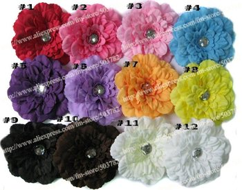 free shipping 150pcs peony flower girl hair barrettes hair clips/flowers hair accessories
