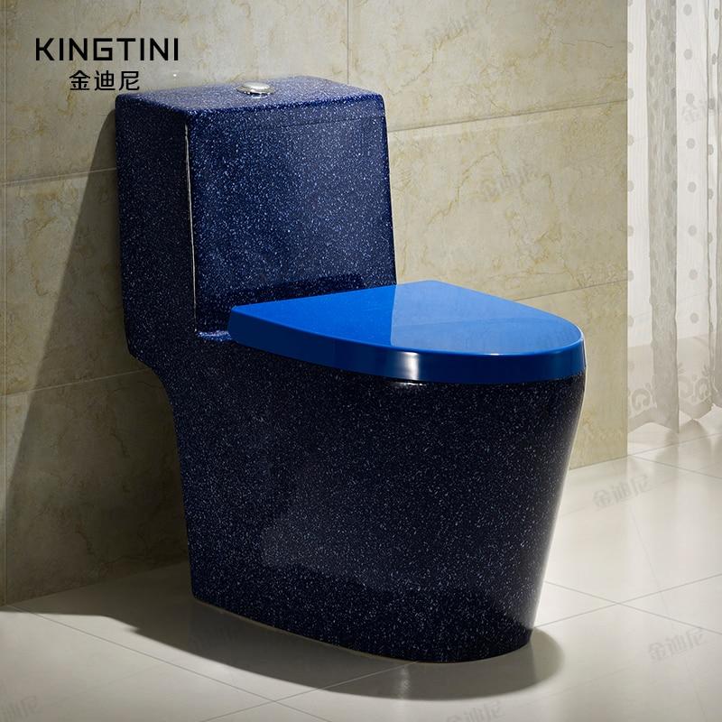 one piece Blue toilet multicolour toilet pump water ceramic Water Closet fashion Bathroom siphon toilet sanitary ware T-Trap смесители blue water в киеве