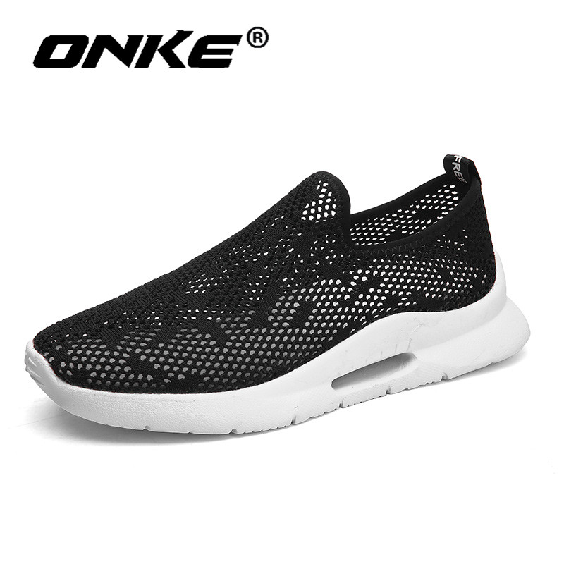 Onke Lightweight Walking Shoes Breathable Men Sneakers Running Man Shoes Soft Jogging Trainers Slip On Zapatillas Hombre
