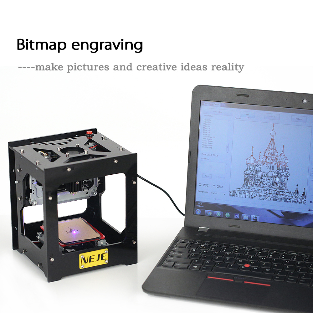 1500mW USB Laser Engraver High Speed cnc router cutter DIY Print Engraving Machine Off-line Operation + 1500mW 405nm Laser Head 1000mw high speed mini laser cutter usb laser engraver cnc router automatic diy engraving machine off line operation glasses