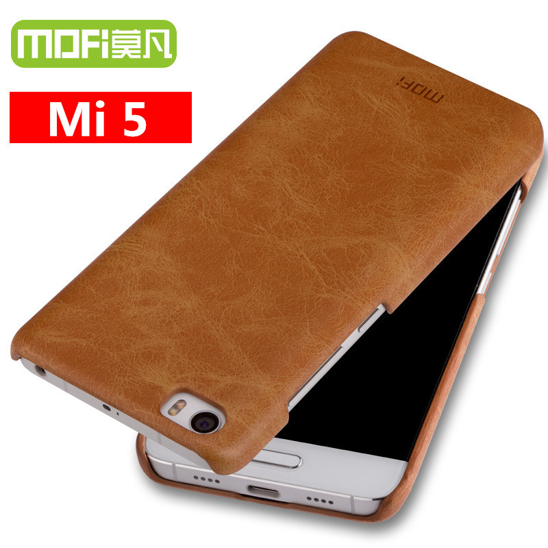 on sale 90bd4 4ad06 xiaomi mi5 case original MOFi back cover 2017 new xiomi mi 5 case cover  leather back xiami mi5 pro 5 hard funda celular M5 5.15