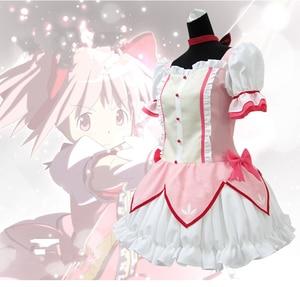 Image 2 - Puella Magi Madoka Magica Magical Girl Kaname Madoka Cosplay Costume Short Ball Dress With Bowknots Cosplay Costume