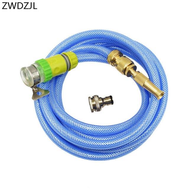 Tuin Spray Gazon Sprinkler Wasstraat Pistool Verstelbare slang nozzle hogedruk power automatische watering kit 1 set
