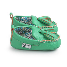 Tassel Infant Baby Girl Shoes Soft Leather Anti Slip Soft Sole Prewalker Faux Leather-P101