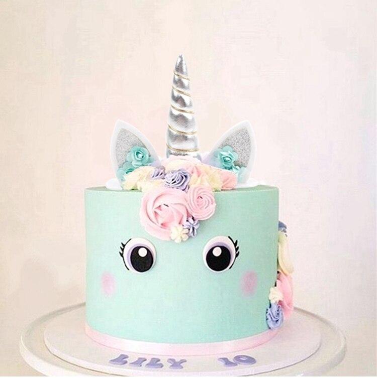 Fengrise Einhorn Horner Kuchen Topper Kinder Geburtstag Bunte Kuchen
