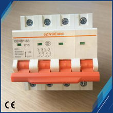 compact and practical 4P 16A 440V AC miniature circuit breaker 16a with current overload and short circuit protection недорго, оригинальная цена