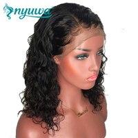 Full Lace натуральные волосы парики предварительно сорвал натуральных волос с ребенком волосы волна воды бразильский Волосы remy парики отбелен