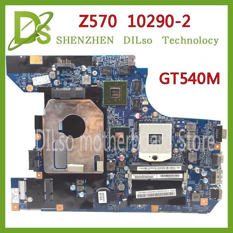 KEFU 10290-2 48.4PA01.021 LZ57 MB originale carte mère pour Lenovo Z570 mère D'ordinateur Portable Z570 carte mère GT540M 100% testé