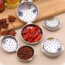 Stainless Steel Tea Infuser Strainer Filter Mesh Spoon Locking Spice Ball Rope chain Portable for food Drop Shipping 1Pcs Y(China)