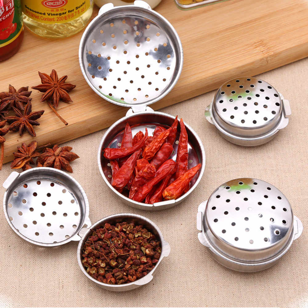 Stainless Steel Tea Infuser Strainer Filter Mesh Spoon Locking Spice Ball Rope chain Portable for food Drop Shipping 1Pcs Y