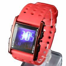 Dw330a красный корпус часов Хронограф Дата подсветка ободок