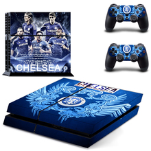 Chelsea Football Team PS4 Skin Sticker Decal Vinyl for Sony Playstation 4 Console and 2 Controllers PS4 Skin Sticker